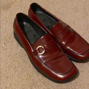 Coach deep red shoes 👞